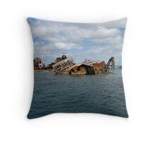 One of the wrecks on Moreton Island #2 Throw Pillow