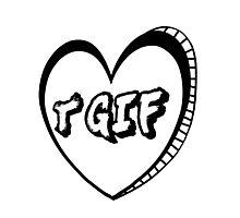 TGIF Heart Photographic Print