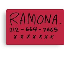 her name is ramona Canvas Print