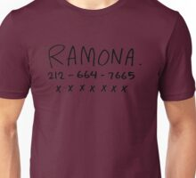 her name is ramona Unisex T-Shirt