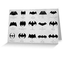 the evolution of batman logos  Greeting Card