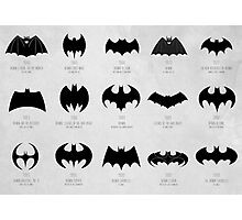 the evolution of batman logos  Photographic Print