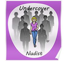 Undercover Nudist (Female) Poster