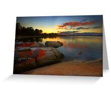 Sunset at Lady Barron Greeting Card