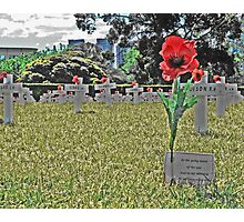 ANZAC day, In the 11th month, on the 11th day, at the 11th hour Photographic Print