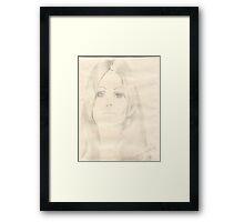 Pencil Sketch Framed Print