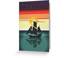 The Black Vector | Pirate Ship Greeting Card