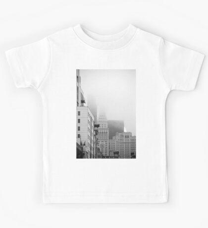 Buildings in the Fog Kids Tee