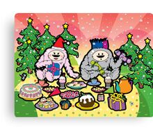 Monster Christmas Teaparty Canvas Print