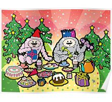 Monster Christmas Teaparty Poster