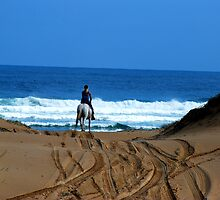 Horse Riding - Birubi Point NSW by Bev Woodman