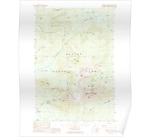 Maine USGS Historical Map Mount Katahdin 460642 1988 24000 Poster