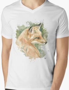 What does the fox say? Mens V-Neck T-Shirt