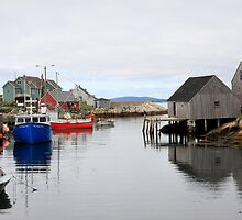 Boats at Peggy's Cove by Dave Law