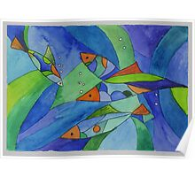 abstraction. fish Poster
