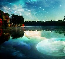 Moonlight Reflected on Still Waters by Beth BRIGHTMAN