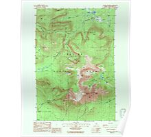 Maine USGS Historical Map Mount Katahdin 808112 1988 24000 Poster