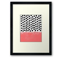 Lola - Abstract, pink, brushstroke, original, painting, trendy, girl, bold, graphic Framed Print