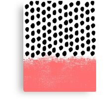 Lola - Abstract, pink, brushstroke, original, painting, trendy, girl, bold, graphic Canvas Print
