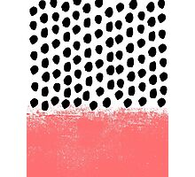 Lola - Abstract, pink, brushstroke, original, painting, trendy, girl, bold, graphic Photographic Print