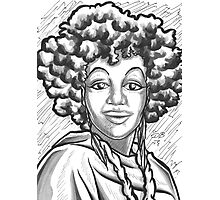 Afro Portrait Photographic Print
