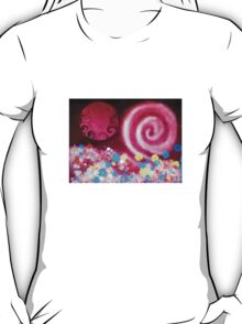 Pink Galactic Swirl- original digital painting T-Shirt