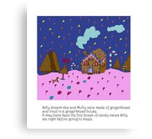Silly Gingerbread Canvas Print