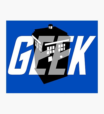 Geek My Ride- TARDIS Photographic Print