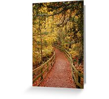 Autumn pathway Greeting Card