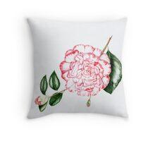 Camellia Margaret Davis Throw Pillow