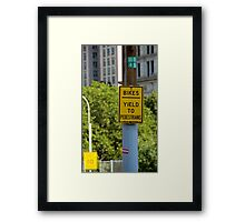 Signs of New York Framed Print