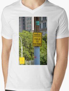 Signs of New York Mens V-Neck T-Shirt