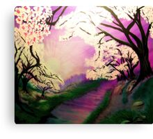 Hope in a Pink Sunrise Canvas Print