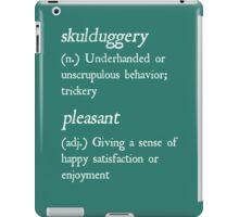 """Skulduggery Pleasant"" Definition (White) iPad Case/Skin"