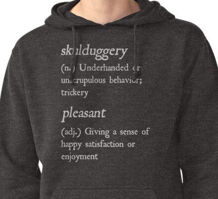 """Skulduggery Pleasant"" Definition (White) Pullover Hoodie"