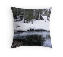 Snowy Banks of the Yuba Throw Pillow
