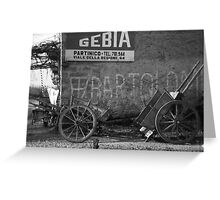 Old Photo found in Milazzo - Sicilian Handcart Greeting Card