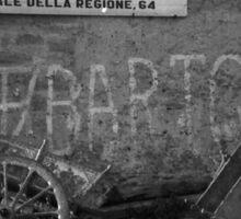 Old Photo found in Milazzo - Sicilian Handcart Sticker