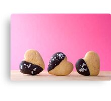 Heart Shape Biscuit Canvas Print