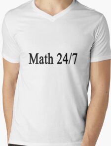Math 24/7  Mens V-Neck T-Shirt
