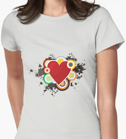 Heart - I Love Heart Womens Fitted T-Shirt
