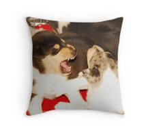 The Wolf King Throw Pillow