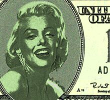 MARYLYN MONROE $100 US.......DOLLAR Sticker