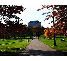 Another Fall Day - On the Oval w/ Library  Photographic Print