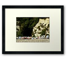 Sitting Under a Cliff Framed Print