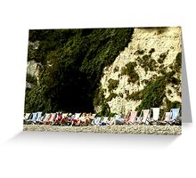 Sitting Under a Cliff Greeting Card