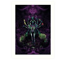 UV Goddess - Twelve handed/Fractal creator Art Print