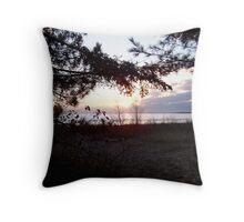 Lake Michigan Sunset View Throw Pillow