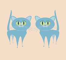 A PAIR OF PURRING CATS by Jean Gregory  Evans