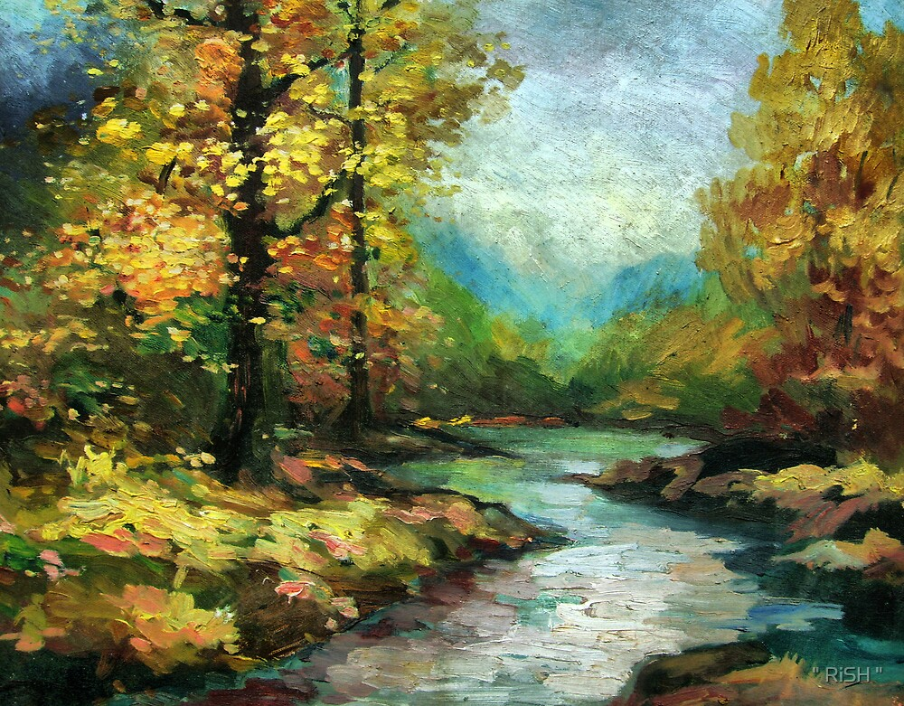 """River in the golden forest by """" RiSH """""""
